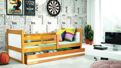 Dětská postel RICO 1 80x190 cm, olše/bílá Princezna