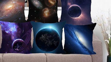 Povlak na polštář s motivy vesmíru