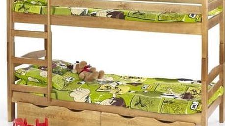 Dětská dvoupatrová postel Sam olše