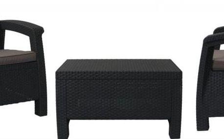 Balkónový set nábytku Allibert - antracit/šedá