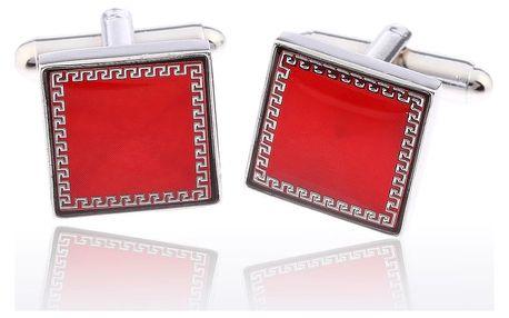 Fashion Icon Manžetové knoflíky čtverec se vzorem rhodiované