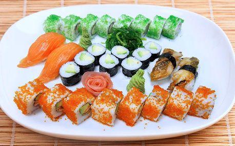 Lahodná exotická pochoutka: Sada čerstvého sushi