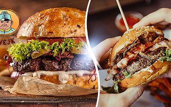 Originální Švejk burger a hranolky + tatarka nebo kečup pro 1 či 2 osoby. Švejk - Strašnice