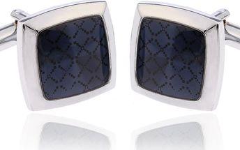 Fashion Icon Manžetové knoflíky modré rhodiované