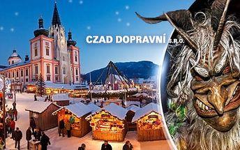 Mariazell - Rakousko: Zájezd na 1 den pro 1 osobu na průvod čertů. Odjezdové místo Praha