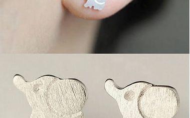 Mini náušnice v podobě slonů pro štěstí - dodání do 2 dnů