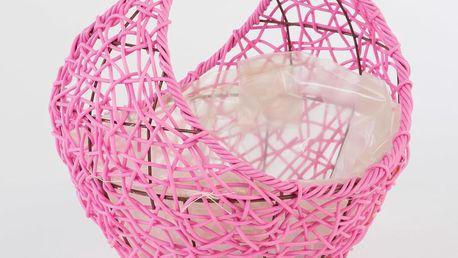 Ratanový květináč Baskie Pink