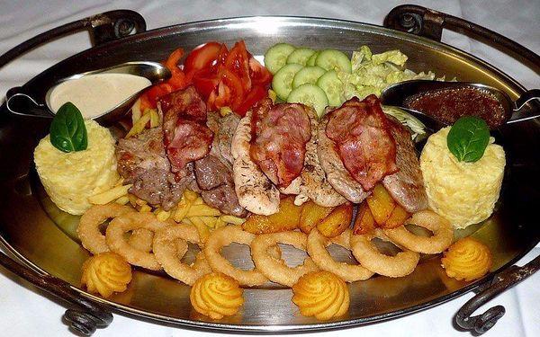 Rudolfovo fresh plato v Golemově restaurantu
