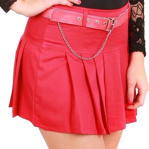 Dámská skládaná sukně červená