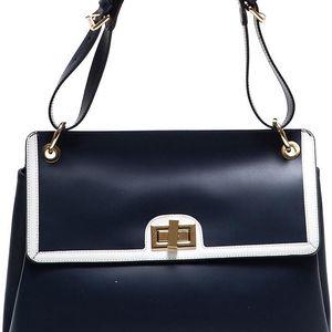 Modrá kožená kabelka Anna Luchini - doprava zdarma!