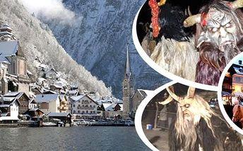 1000 čertů v Solné komoře, návštěva Hallstattu a St. Wolfgangu. Zažijte atmosféru adventu v Solné komoře a strašidelný čertovský běh.