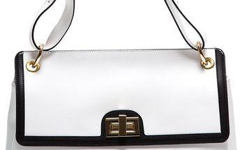 Bílá kožená kabelka Anna Luchini - doprava zdarma!