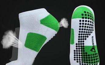 Dámské protiskluzové sportovní ponožky - poštovné zdarma