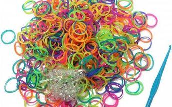 600 kusů gumiček v jemných barvičkách - dodání do 2 dnů