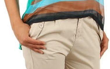 Bavlněné kalhoty s výraznými kapsami a páskem béžová