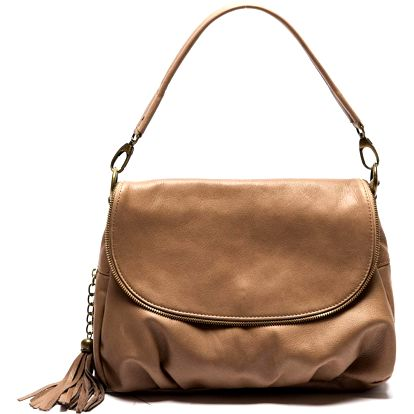 Hnědá kožená kabelka Sofia Cardoni Cristina Fango - doprava zdarma!