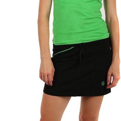 Krátká sportovní sukně černá/zelená