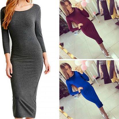 Jednoduché dámské midi šaty Aurea