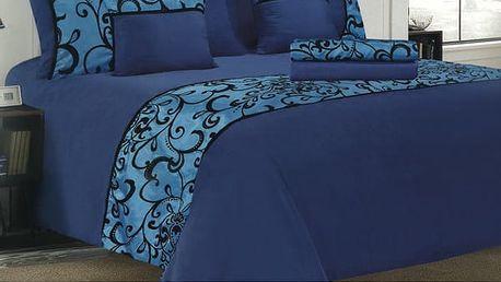 Stylová ložní souprava Adornment 6 dílná modrá