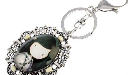Fashion Icon Klíčenka na kabelku s gothic holčičkou