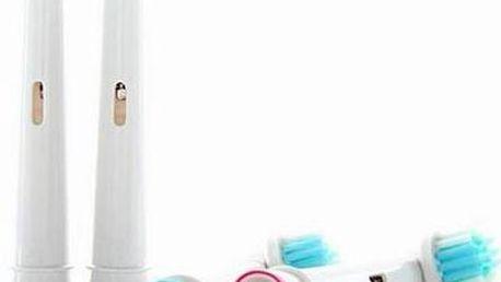 Univerzální náhradní kartáčky na Oral - B. V balení 4 ks a barevné výměnné kroužky, pro identifikaci