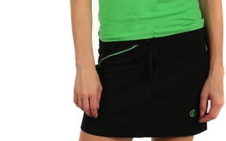 Krátká dámská sportovní sukně černá/zelená