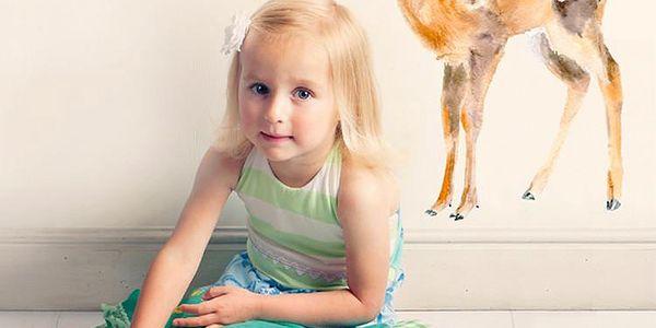 Znovu snímatelná samolepka Baby Deer, 40x30 cm