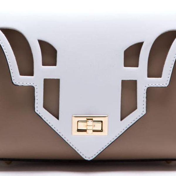 Béžová kožená kabelka Luisa Vannini - doprava zdarma!
