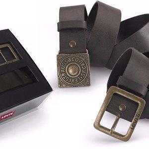 Pánský pásek se dvěma sponami - AB214827 Hnědý