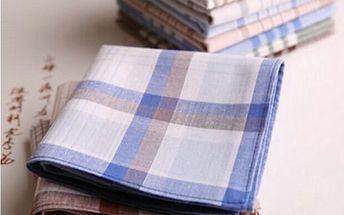 Pánské bavlněné kapesníky - 40 x 40 cm - 12 ks - poštovné zdarma