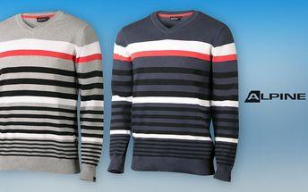 Nesmrtelné proužky: Pánské svetry Alpine Pro