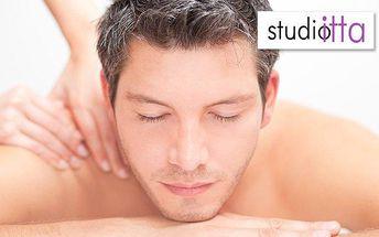 40 minut relaxační masáže + 20 minut ošetření ReiKi ve studiu Itta v Praze