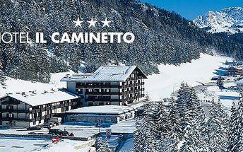 Itálie - Val di Fassa, 3* hotel na 4-8 dní pro 1 os.: polopenze, skibus, možnost wellness