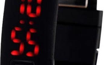 Silikonové LED hodinky pro sportovní nadšence - černá - skladovka - poštovné zdarma