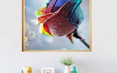 Sada pro výrobu vlastního obrazu - barevná růže
