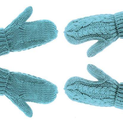 Dětské dívčí zimní rukavice pletené teplé