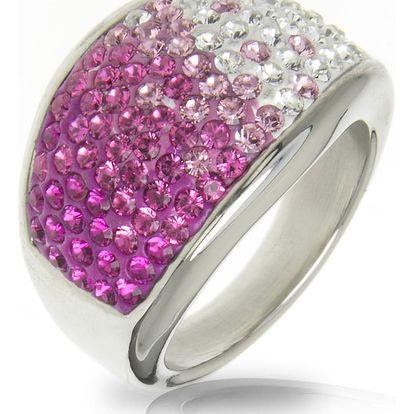 Fashion Icon Prsten chirurgická ocel s krystaly Swarovski elements - dvoubarevný