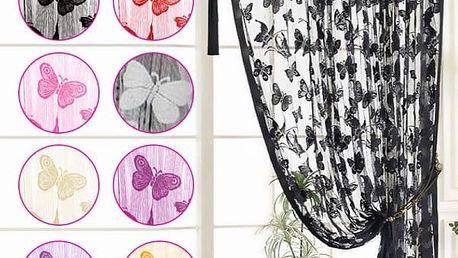 Provázkový závěs s motivem motýlků - poštovné zdarma
