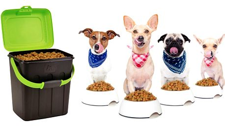 Boxy na skladování psích granulí