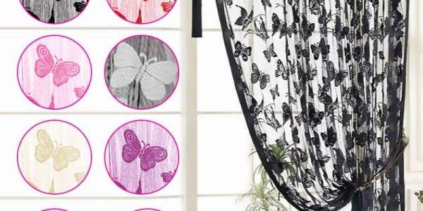 Provázkový závěs s motivem motýlků