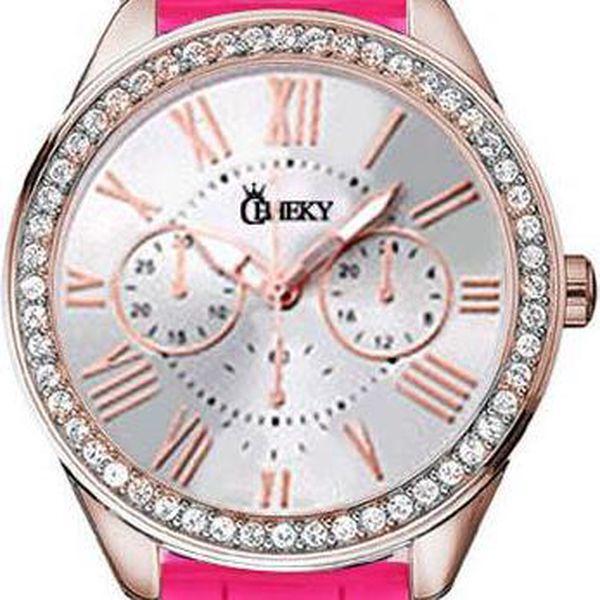 Dámské hodinky Cheeky HE019 zářivě růžové