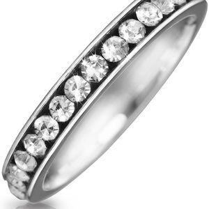 Prsten chirurgická ocel kamínky po obvodu