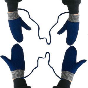 Dětské pletené palčáky se šňůrkou