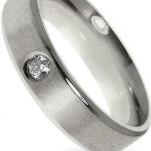 Prsten chirurgická ocel matná s krystalem