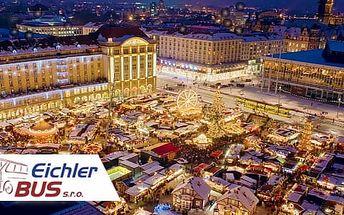 Drážďany: Zájezd 1 osobu na vánoční trhy. 5 termínů + doprava z Prahy a dalších 5 měst