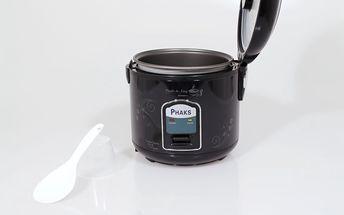 Rýžovar: 1,2l automatický hrnec PHAKS na vaření a ohřívání rýže - v bílé či černé barvě