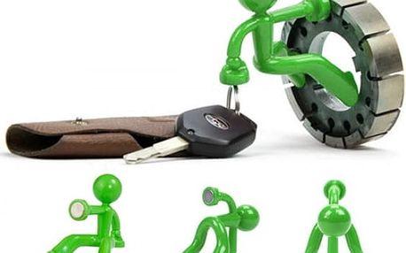 Magnetický držák na klíče - zelená - poštovné zdarma