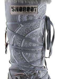 Snoboot - Luxusní módní sněhule Tattoo High Grey - velikost 38