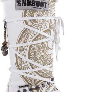 Snoboot - Luxusní módní sněhule Tattoo High White - velikost 39