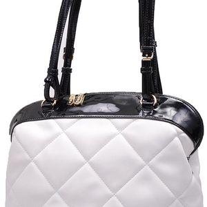 Pabia - Dámská kabelka s čtvercovým prošíváním v černé-bílém provedení BAG0310-000